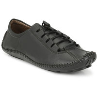 Baton Men's Black Casual Shoe