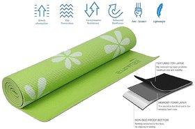 Strauss Yoga Mat, 6MM (Floral Green)