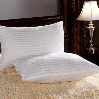 Peponi 2 Piece Microfiber Satin Patta Pillow Set - 16x26, White