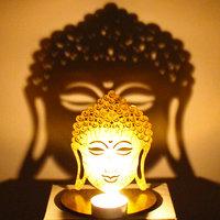 Shadow Diya Tealight Candle Holder Of Removable Buddha
