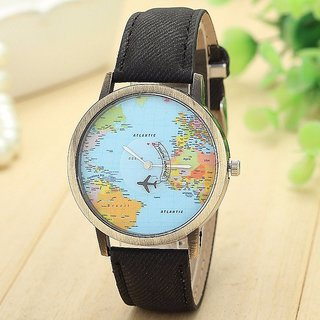 Febo india mini world map unisex stylish denim wrist watch buy febo febo india mini world map unisex stylish denim wrist watch gumiabroncs Images