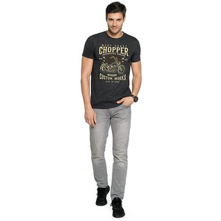 Buy Zorchee Men S Round Neck Half Sleeves Printed Poly Cotton T