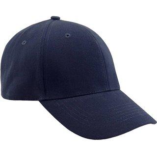 Buy Babji Solid Stylish Solid Blue Plain Nylon Baseball Cap Online - Get  50% Off eb879a9f93d3