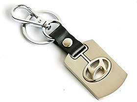 CP Bigbasket Key Chain Ring For Hyundai Cars (Golden)