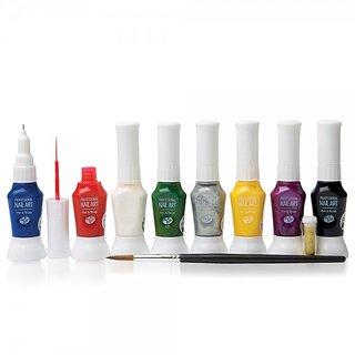 12 Color Nail Art Two Way Pen And Brush Varnish Polish