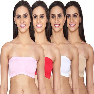 Ansh Fashion Wear Lycra Net Tube Bra Pack of 4
