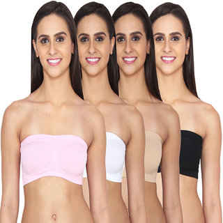 Ansh Fashion Wear Lycra Net Tube Bra Pack of 4