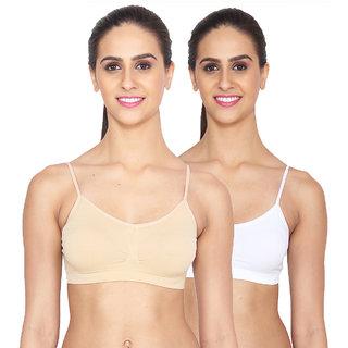 Ansh Fashion Wear Pack Of 2 Cotton Lycra Sports Bra