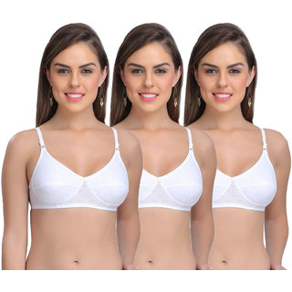 Ansh Fashion Wear Women's Wirefree Non Padded Daily Full Cup Bra Pack Of 4