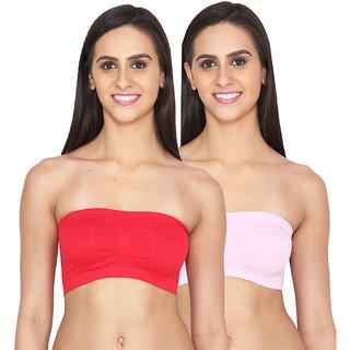 Ansh Fashion Wear Lycra Net Tube Bra Pack of 2