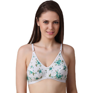 Ansh Fashion Wear Women's Regular Cotton Wear White Bra