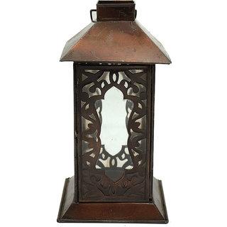 Master Piece Crafts Handmade Old Oxidised Transparent Glass Lantern