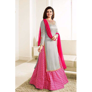 Salwar Soul New Designer Gray nd Pink Lehenga Suit