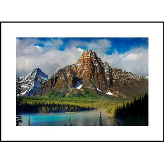 MYIMAGE Beautiful Natural Scene  Digital Printing  Framed Poster (35 cm x 49 cm)
