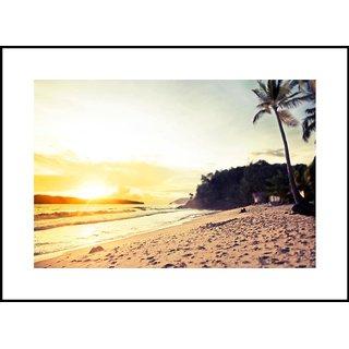 MYIMAGE Beautiful Natural Scene  Digital Printing  Framed Poster (35 cm x 49 cm)