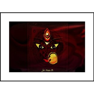 MYIMAGELord Durga Maa Beautiful Digital Printing  Framed Poster (35 cm x 49 cm)