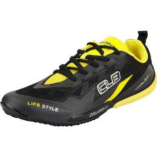 Columbus Men's Black Lace-up Sports Shoes