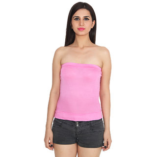 b454503104dffe Buy Ansh Fashion Wear Pink Color Cotton Spaghetti Tube Top Online - Get 65%  Off