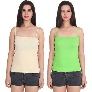 367d51afbfa90a Buy Ansh Fashion Wear Color Cotton Spaghetti Pack Of 2 Online - Get 72% Off