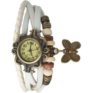 new Omkart White Dori Analoge Watch For Girl by Onkart