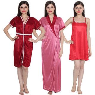 Ansh Fashion Wear Women Combo of 3 Baby Doll Dress Nighwear