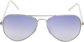 Adam Jones Premium Blue Aviator Unisex Sunglasses for Men and Women (Metal Frame with Temple Guard + Gradient Lens)