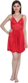 Ansh Fashion Wear Women's Satin Nightwear Babydoll Dress
