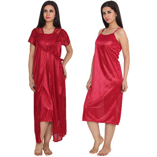 Ansh Fashion Wear Satin Nighty & Night Gowns