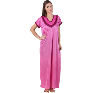 Ansh Fashion Wear Women's Satin Nighty