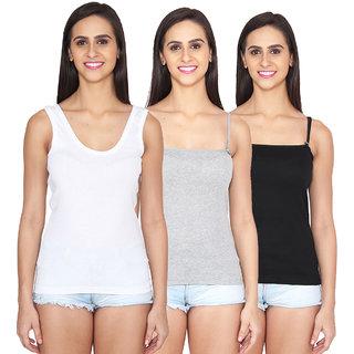 Ansh Fashion Wear Color Cotton Spaghetti Pack Of 3