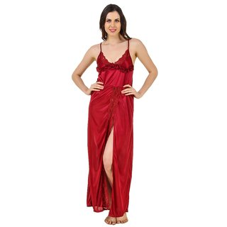 Buy Ansh Fashion Wear Women s Lace Work Satin Nighty Online - Get 38 ... f2593419f