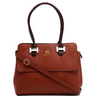 Fiona Trends Brown PU Shoulder Bag