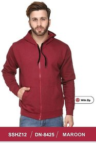 100ANB Men's Maroon Hooded Sweatshirts