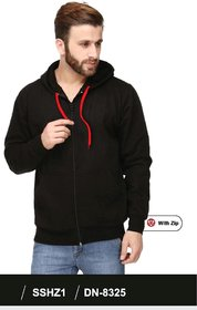 100ANB Men's Black Hooded Sweatshirts