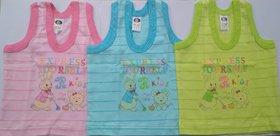 New Born Baby Kids Inner Wear Baniyan Unisex Printed Cotton Baby  Vest( 0 to 3 Months)