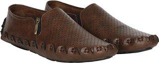 Floxtar Mens Brown Trendy Loafers