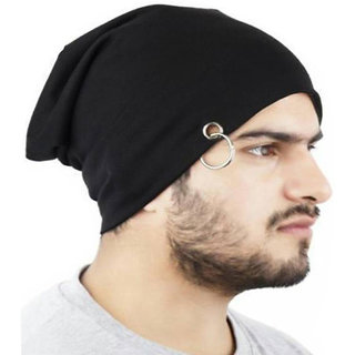 491c807d8e4 Combo Of Winter Casual Stylish Warm Black Cap for Men And Assorted Color  Muffler