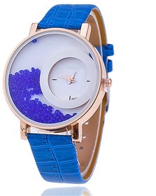 Zillion Movable Crush Diamond Blue Analog Watch For Women, Girls