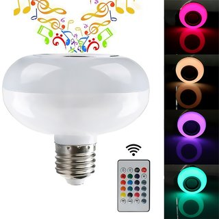 Smart Mini Wireless Bluetooth Music LED Light Bulb Four Color To Choose/  Audio Speaker Lamp