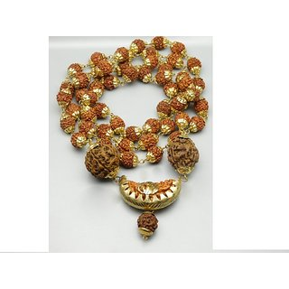 Craftsells Orignal Rudraksha wear Mala with one face kaju dana