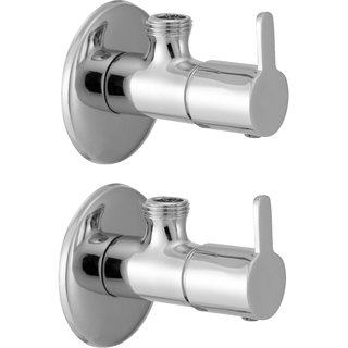 SSS - Angle Valve with Flange Set of 2 pcs (Type - Fusion, Material  -Brass)
