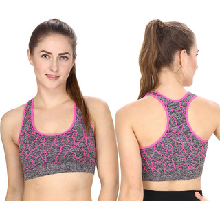 40453b7603 Buy Hothy Padded Impact Slip On Active Bra-Pink Online - Get 71% Off