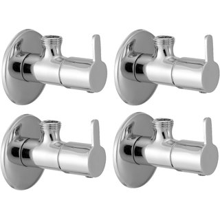 SSS - Angle Valve with Flange Set of 4 pcs (Type - Fusion, Material  -Brass)