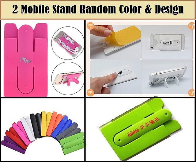 Buy Silicone Cell Phone Card Holder Wallet, Ultra-slim Self Adhesive Silicone Stick-on Credit Card Id Wallet Case Pouch Sleeve Pocket Pack of 2 Online - Get ...