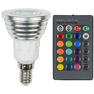 Christmas Dimmable E27/E14/GU10/B22 RGB LED spotlight 110V 220V 16 Colors 3W RGB LED bulb Lamp + 24key IR Remote Control