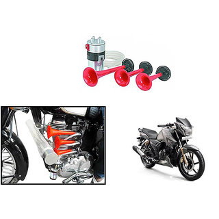 Autonity 3 Pipe Air Pressure Bike Horn For TVS Apache RTR 180
