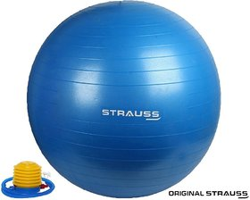 Strauss Anti Burst Gym Ball with Foot Pump, 55 CM