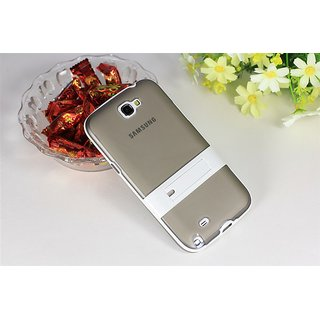 Stand Design Transluscent Soft TPU Rubber Cover skin case for Samsung Galaxy Note 2 II N7100