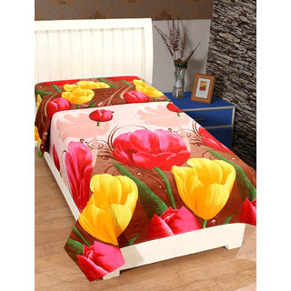 BSB Trendz 3D Single Bedsheet Without Pillow