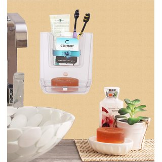 Century 2 in 1 Combo of Soap Dish and Toothbrush Holder and Toothpaste Holder